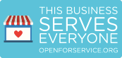 Open for Service Web Badge