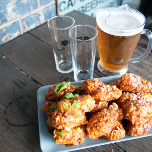 Wings Platter and Beer Jug